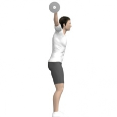 Barbell Squat, Overhead Starting Position