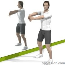 standing arms to front no equipment  exercise