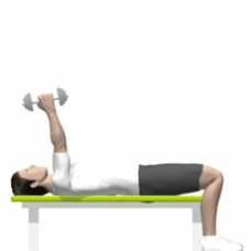 Dumbbell Triceps Extension, Lying, One Arm Starting Position