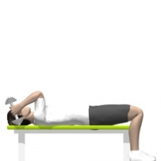 Dumbbell Triceps Extension, Lying, One Arm Ending Position