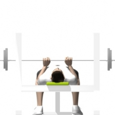 Barbell Bench Press, Close Grip Ending Position