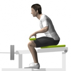 Lever Seated Calf Press Starting Position