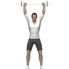 Barbell Shoulder Press, Standing Starting Position