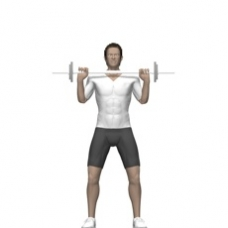 Barbell Shoulder Press, Standing Ending Position