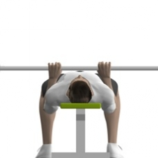 Smith Press Close Grip Bench Press Starting Position