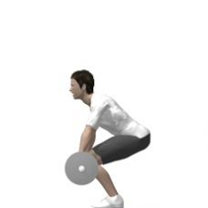 Barbell Dead Lift Ending Position