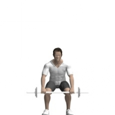 Barbell Clean and Press Starting Position